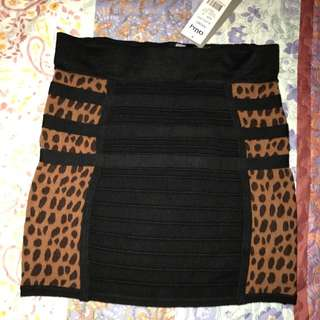 Ally Animal Print Knit Skirt- Size small