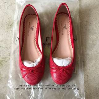 Brand New Maud Frizon Red Ballet Flats