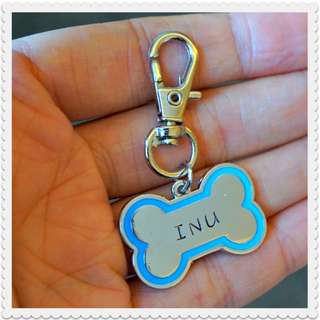 Hand-stamped Dog Bone Pet Tag