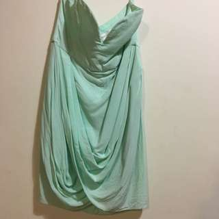 Teal Formal Zimmerman Balconette Evening Strapless Boob Tube Dress