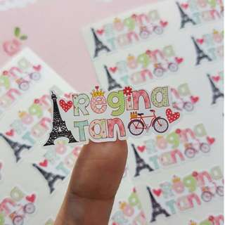 Name label / sticker Label | Customized and Personalized