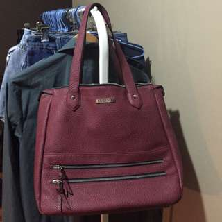 Fiorelli Shoulder/Shopper Bag in Wine/Deep Red