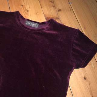 Dark Purple Velvet Tee