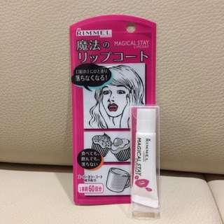 🇯🇵日本帶回👉🏻RIMMEL 魔法口紅雨衣 不沾杯 不掉色 持久 日本藥妝美妝 WTO姐妹會