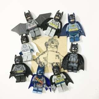Miniman手作飾品 蝙蝠俠積木人偶鑰匙圈