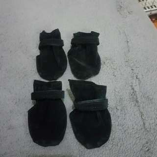 Black Pet Booties
