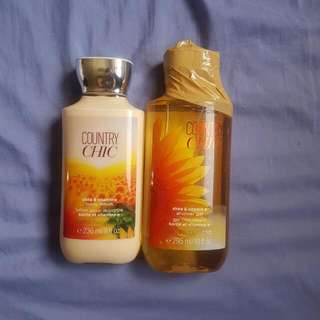 Bath and Body Works Shower Gel and Lotion