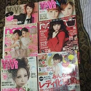 REPRICED! JAPANESE Fashion Magazines-CanCam, Vivi