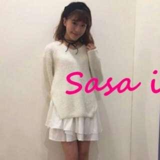 轉賣 sasa日本連線   DAZZLIN折扣 三色V領針織毛衣+細肩帶內襯洋裝