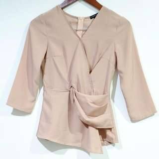 CLOTH INC Creme Tied Top REPRICE