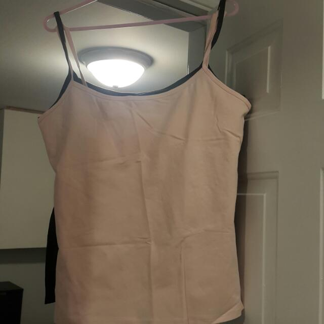 2 Built In Bra Tops, Identical Style (XL)