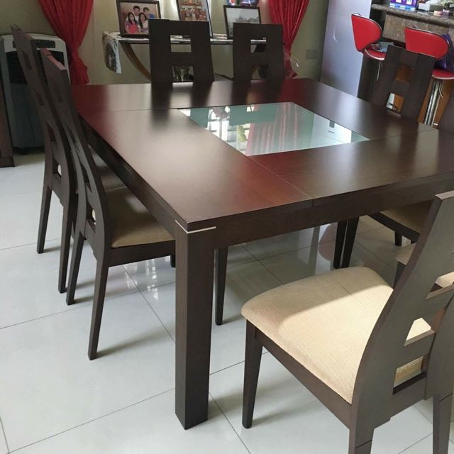 8 Seater Square Dining Table With Chair Home Furniture On Carousell
