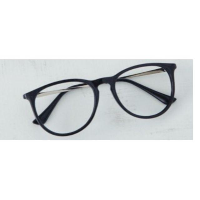 復古學院風金屬橢圓框眼鏡