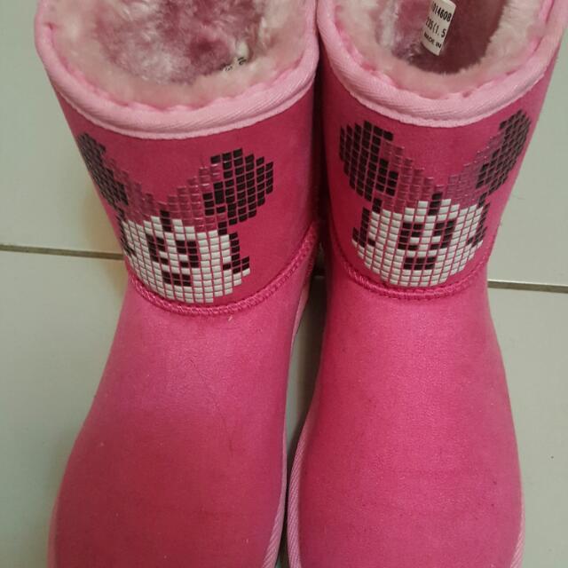 米妮聯名雪靴
