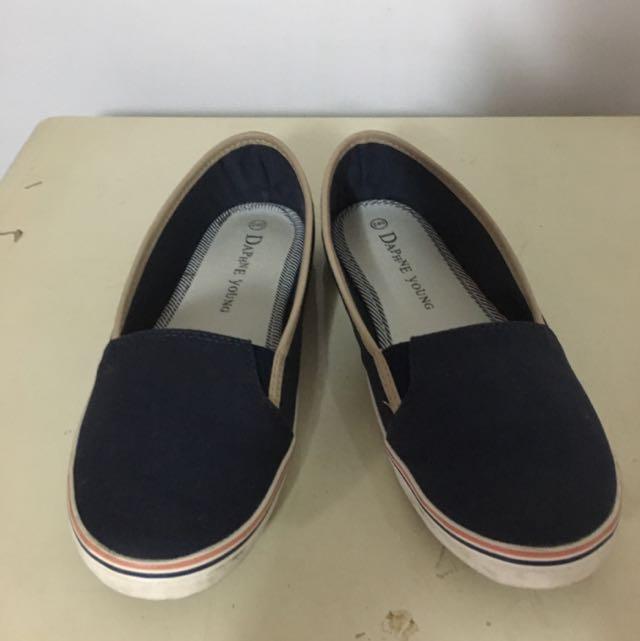 小藍休閒鞋