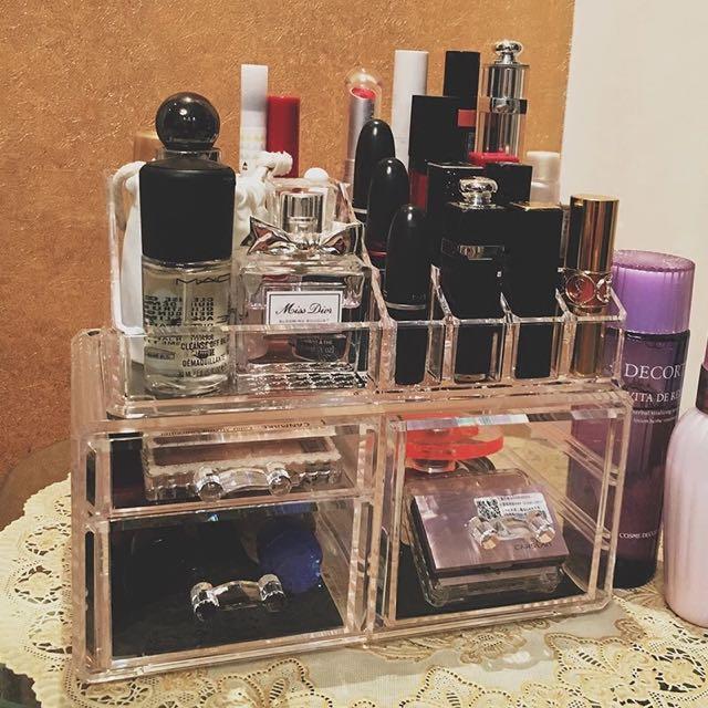 口紅化妝收納壓克力材質透明盒多層