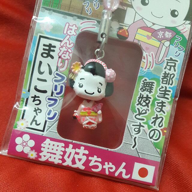 京都限定 舞妓藝妓吊飾  鑰匙圈 清水寺