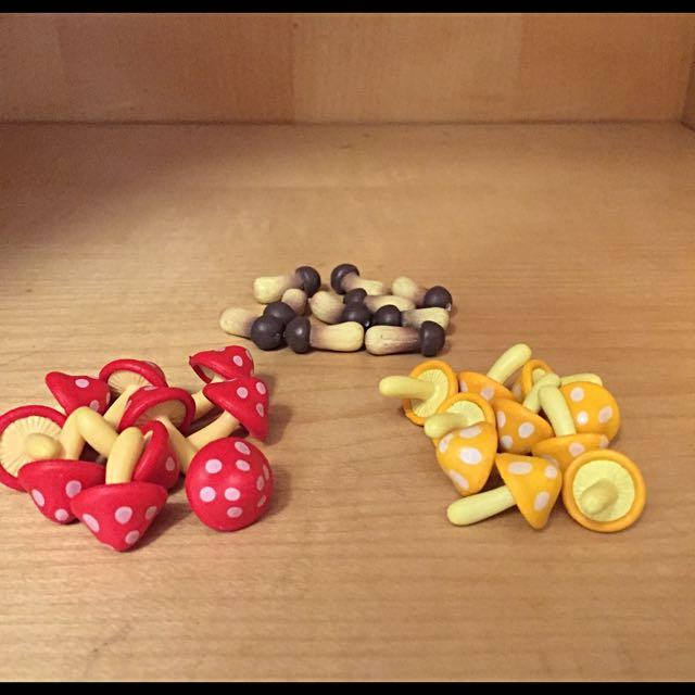 玩具公仔👉 蘑菇 紅蘑菇 黃蘑菇 可愛擺飾配件