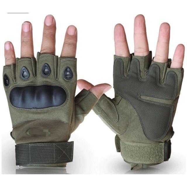 半指手套 三色 戰術手套 生存遊戲 防摔 騎車 機車
