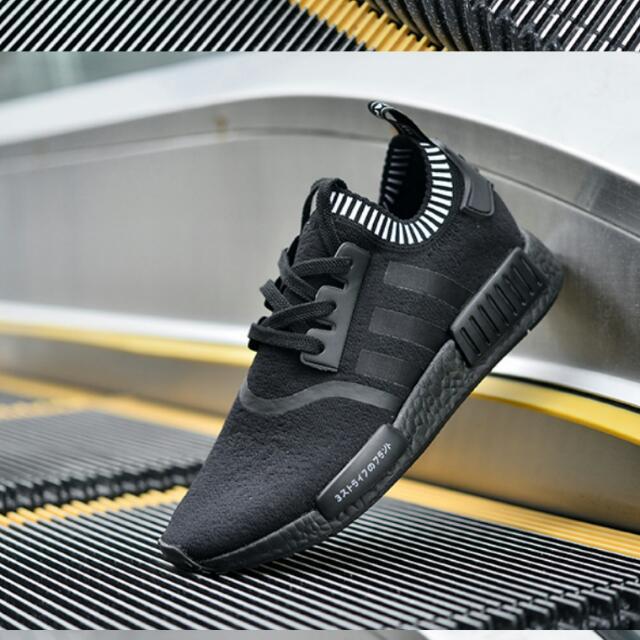 預購 adidas 正品保證 全黑 慢跑鞋