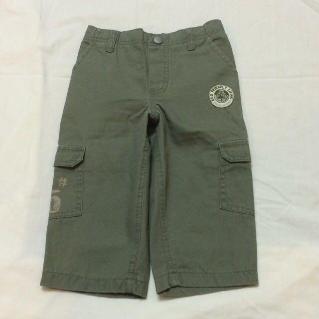 美國品牌 Babies R Us 平織綠色長褲(18個月 )(全新)