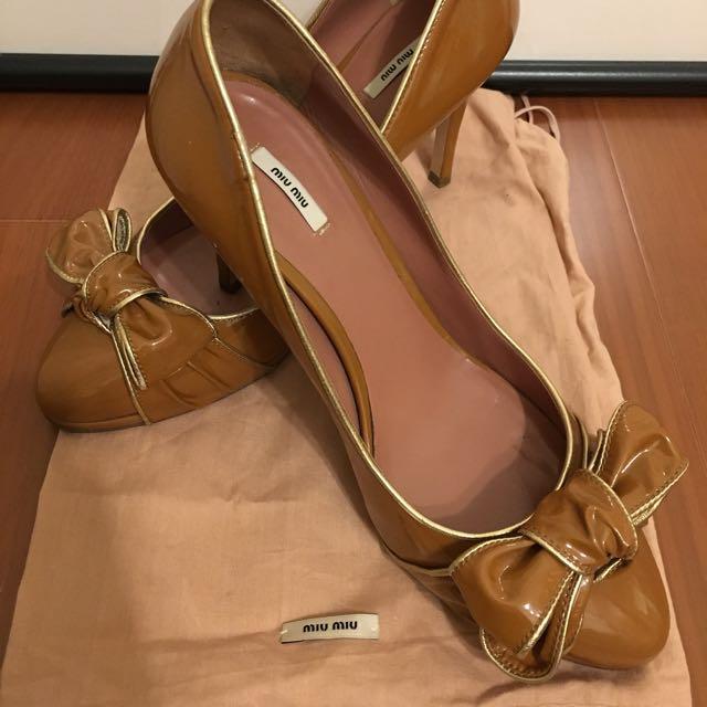 正品 Miu Miu 高跟鞋