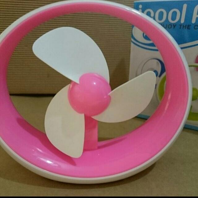 [全新] USB小風扇-白粉色