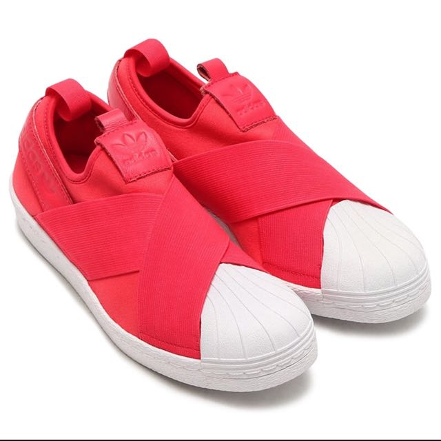 ellos Una noche Ecología  Adidas Superstar Slipon Coral Pink, Women's Fashion, Shoes on Carousell