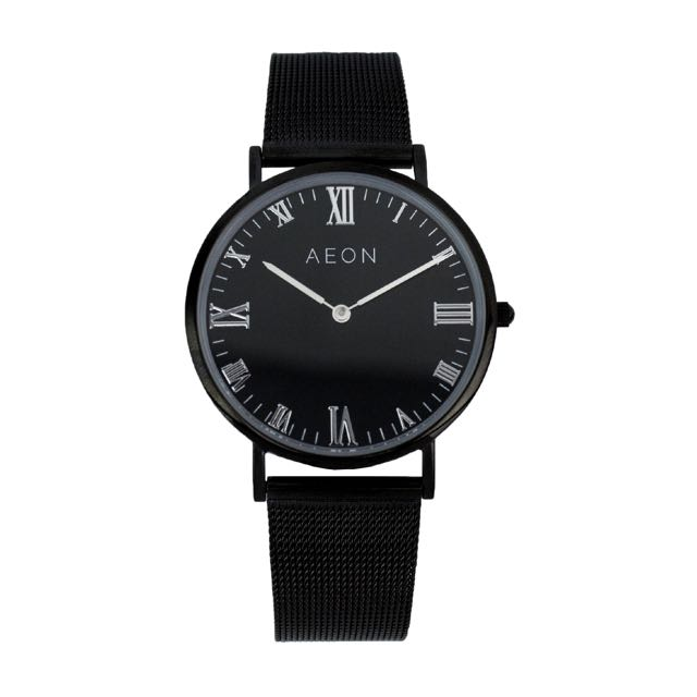 Aeon Collection Black Mesh Watch