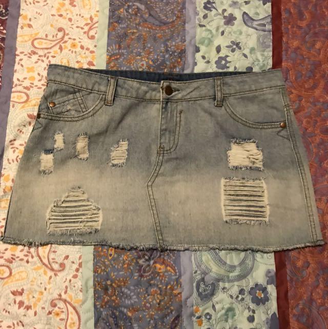 Ally Denim Skirt- Size 12