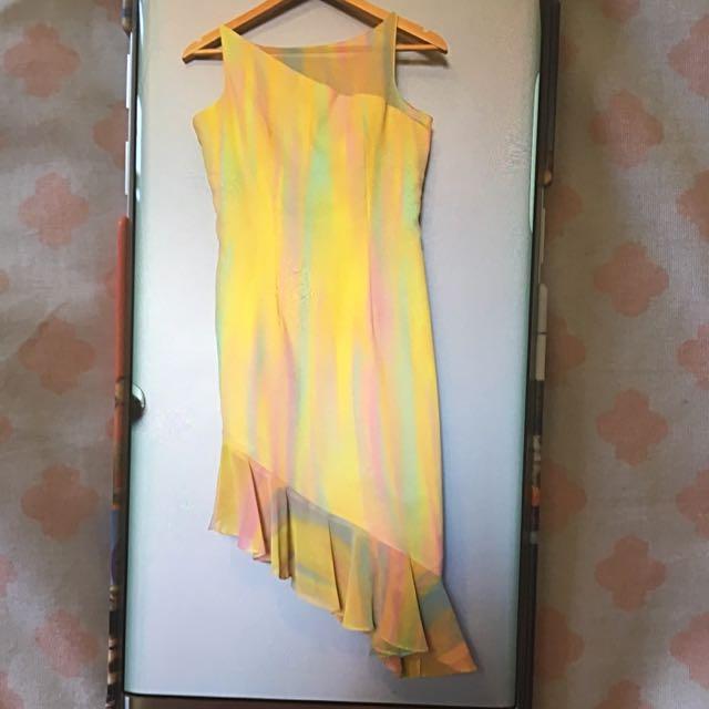 Assymetrical Chiffon Dress