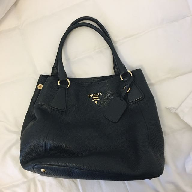 Authentic Prada Vitello Daino Tote