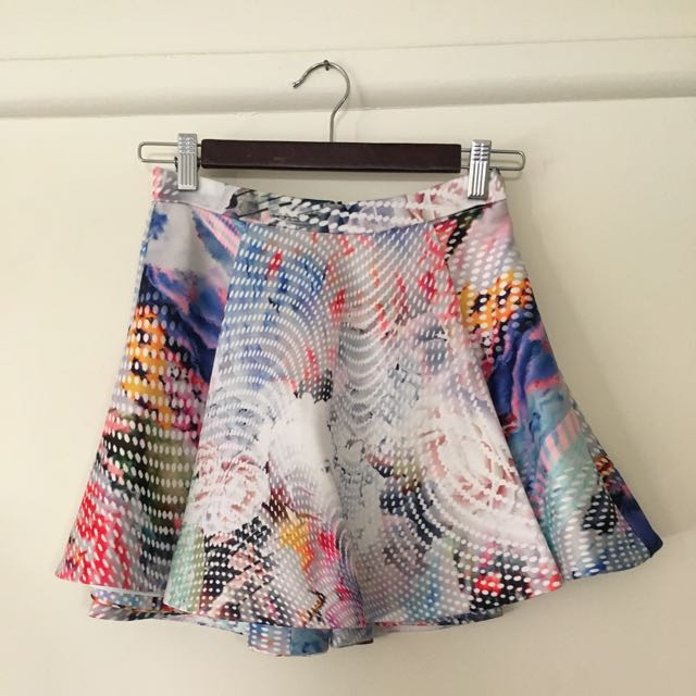 Bardot Print Skirt