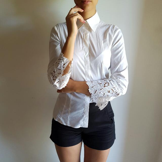BCBG MAXAZRIA Vintage White Shirt