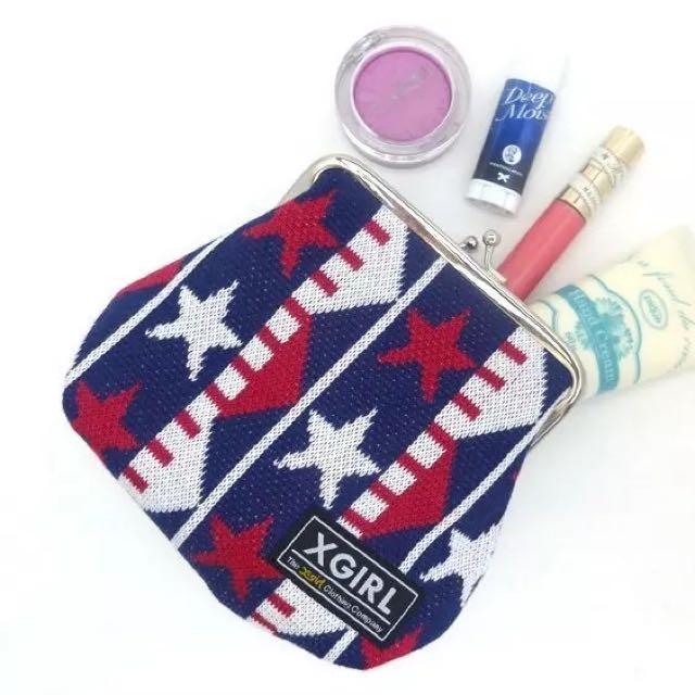 ◆Belle Shop◆日本雜誌附錄 X girl 口金零錢包 釦環 化妝包