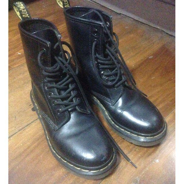 Black Dr. Marten's 1460 boots