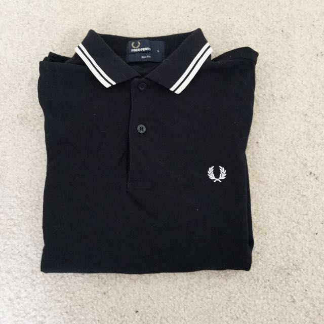 Black Fred Perry Polo