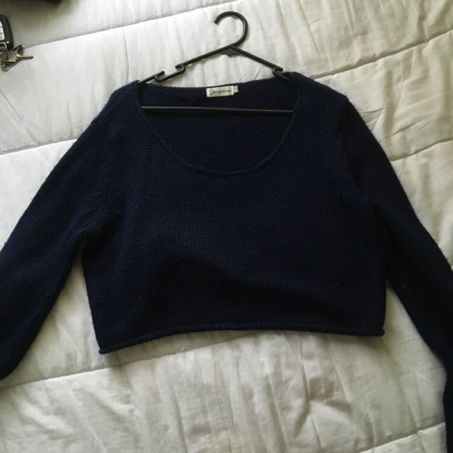 Blue/Navy Cropped Knit