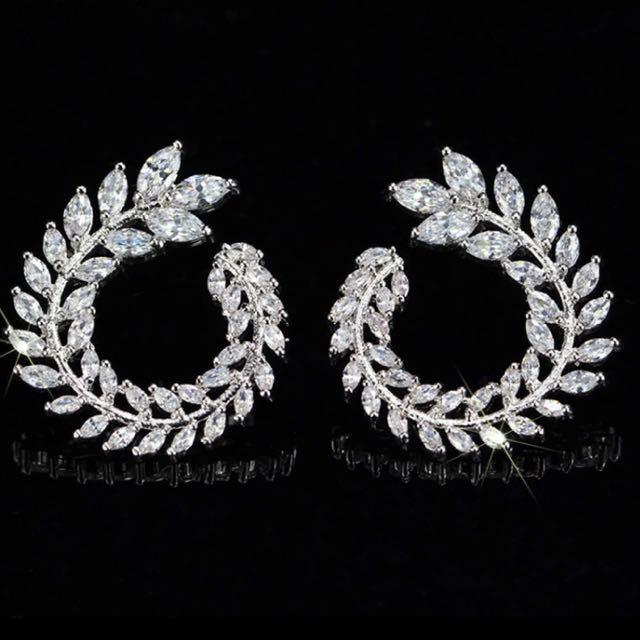 Chopard Marquise Cut Luxury Diamond Earrings Accessories On Carou