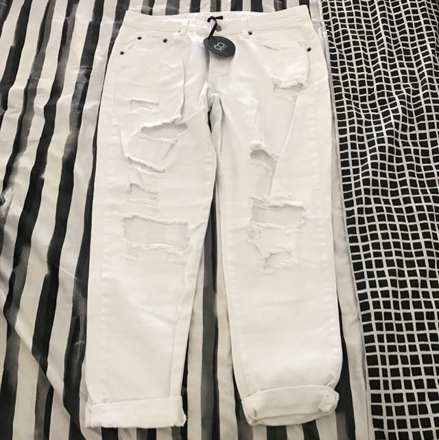 CO. By Cotton On White Boyfriend Jeans