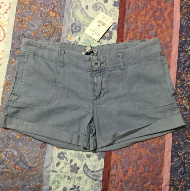 Cotton On Denim Shorts, Size 10