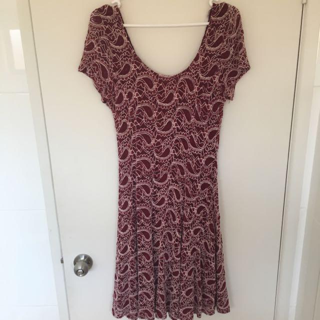 Crossroads Maroon Lace Dress Size M