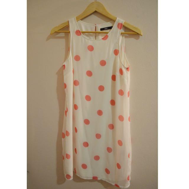Cute Pink Polkadot Dress (Sportsgirl)