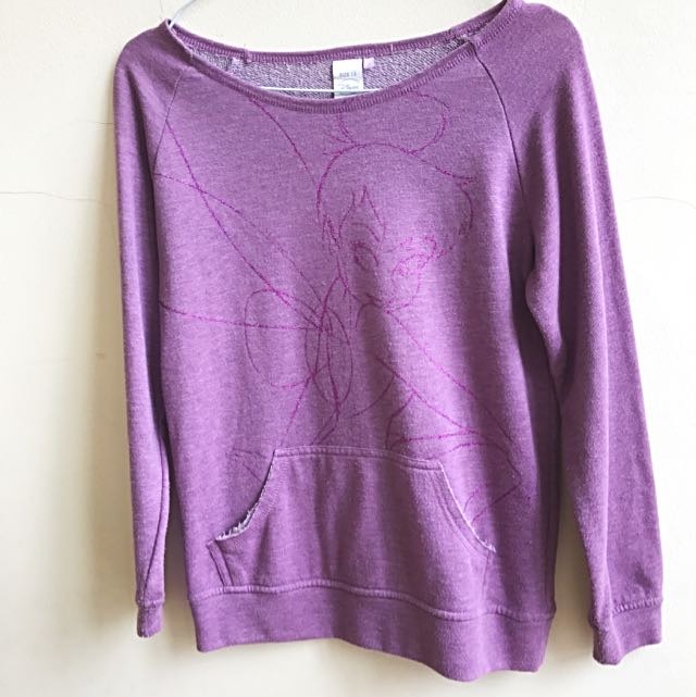 Disney's Tinkerbell Purple Sweater - Size S