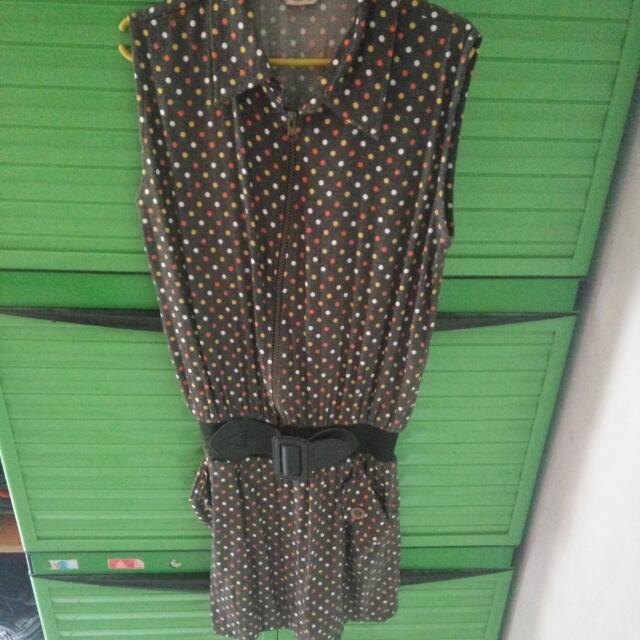 dress mini polkadot
