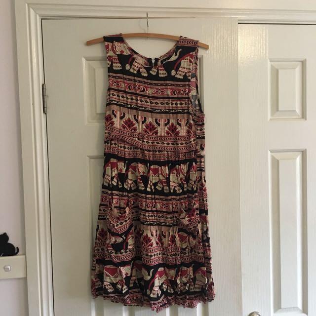Elephant Patterned Dress