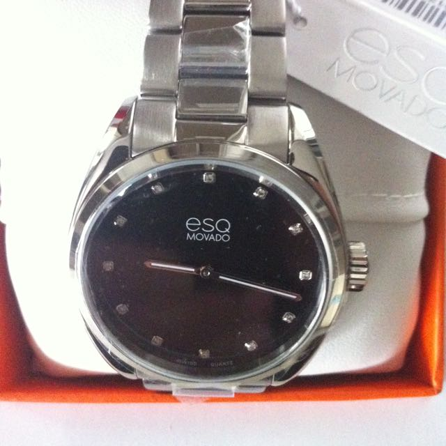 Esq Movado Watch With Diamonds