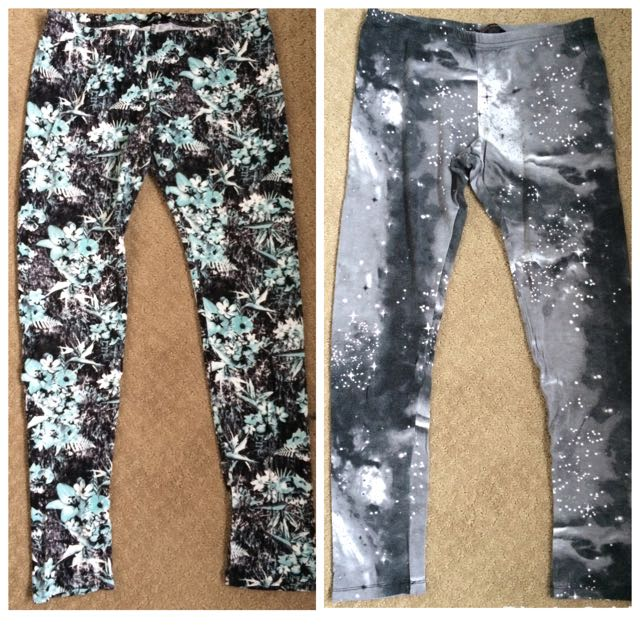 Floral And Galaxy Leggings