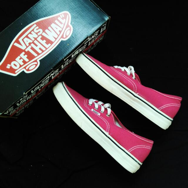 FREE SHIPPING! Vans Authentic Bright Rose/ True White Sneakers