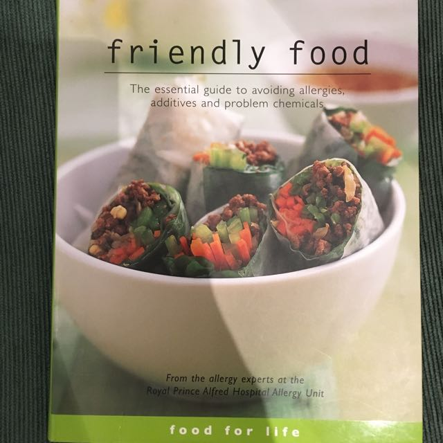 Friendly Food Cookbook For Allergies/intolerances